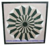 Polished Marble Medallion, water jet marble medallion , Water-jet marble medallion/ marble mosaic