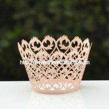 Creative design laser cut filigree cupcake wrapper for wedding favors