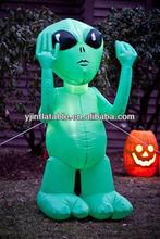 5ft green inflatable alien outdoor & indoor decoration