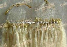 100% European Virgin Remy Hair Micro Ring Loop Hair Extension