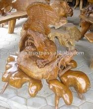 Teak root handicraft