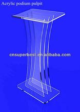 Modern acrylic lectern podium pulpit