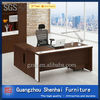 Cherry wood grain chipboard office executive desk