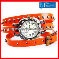 Genuine leather strap watch stud leather wrist