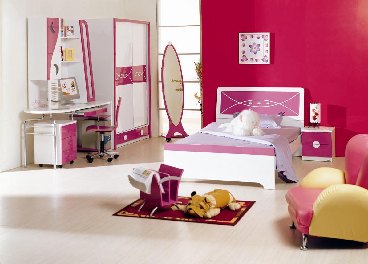 Rose chambre ensemble lots de literie id du produit for Chambre adulte rose et blanc