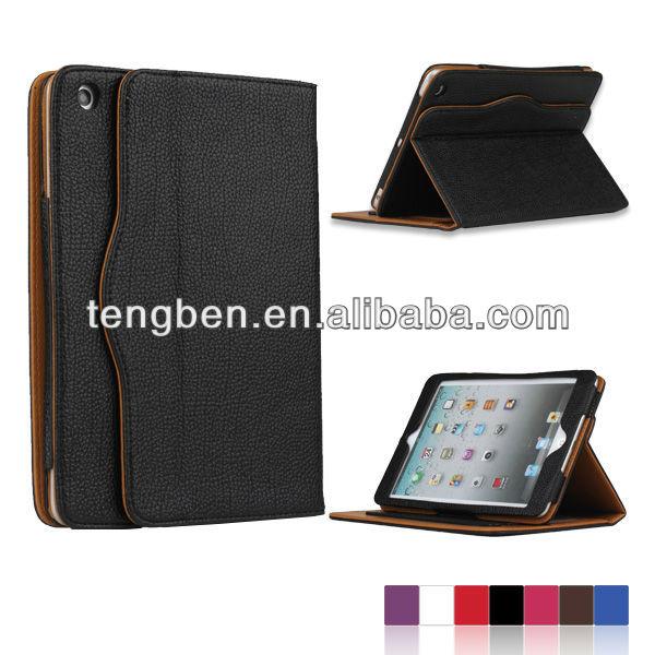 Smart cover leather case for ipad mini 2/3 , 2013 alibaba express high level ,TP-mini 025