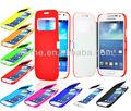 Nova caixa do telefone móvel virar Wallet Magnetic PU capa de couro pele para Samsung galaxy s4 mini