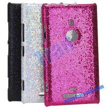 Glitter Powder Leather Coated Hard Case for Nokia Lumia 925