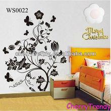 Large DIY Black Flower Vine Vinyl Tree Art Mural Wall Sticker Decal Decor