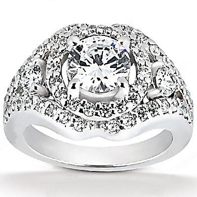 Diamond Anniversary Rings on Larger Image  2 72 Ct  Big Diamond Ring Gold Anniversary Jewelry Ring