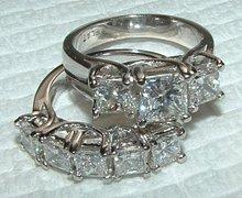 3 carati diamond princess anello di fidanzamento su misura