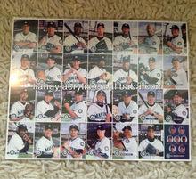 2001 Keebler Seattle Mariner's Uncut Baseball Card 28 set In Acrylic Frame
