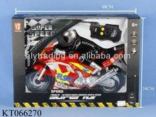 Shantou Farah Toys remote control rotation music diecast plastic toy motorcycle