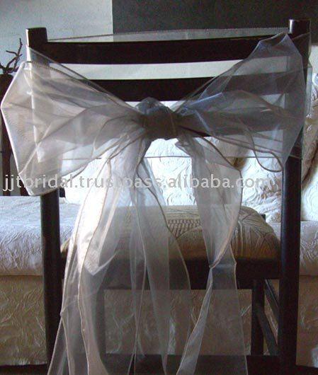 SH012 Wedding chair sashesBows Banquet chair sashes Organza chair Ribbon