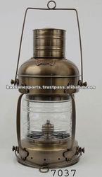 Nautical Brass Anchor Ship Lamp Antique, Nautical lamp, Anchor lamp