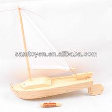 trí tuệ mô hình đồ chơi thuyền gỗ