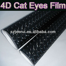 New Products High Tempreture Resistant 4d Shine Cat Eye Car Body Color Film,Black Carbon 4d Cat Eye Vinyl Sticker,Car Body Wrap