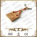medallón de diseño de acero inoxidable de oro llena de colgantes