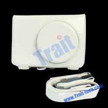 White PU Leather Camera Bag For Casio ZR1000 EX-ZR1000