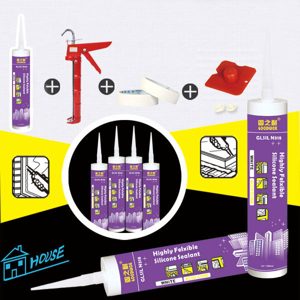 GLSIL-N318 Highly Felxible Silicone Sealant
