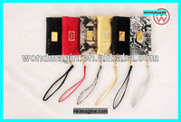 Hot sale Wallet style MK genuine leather case for Iphone 4/4s,5 with retailed package