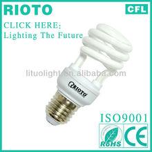 9W 7MM Full spiral shape power saving lamp CE/ROHS/SASO/BV certificate ISO9001 factory