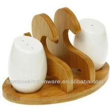 Creative Home Bamboo Napkin Holder salt pepper