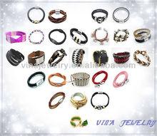 Joyas moda 2013 Pulseras de cuero popular precio mayorista
