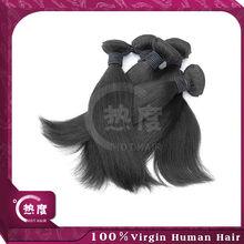 Full custicle brazilian/malaysian/indian/peruvian straight virgin hair weave in stock