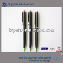 New promotional items hotel thin twist metal ball pen
