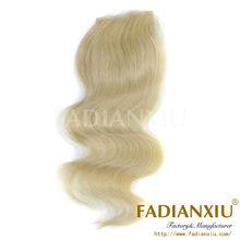 european color 613 human hair lace closure
