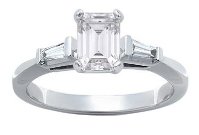 Emerald  Wedding Bands on Cut Diamond Engagement Vvs1 D New Products  Buy Platinum Emerald Cut