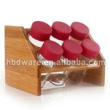 Wooden cruet set