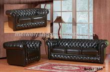 Modern Leather Sofa teak wood designer sofa