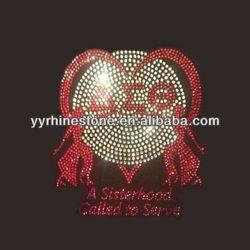 Delta Sigma Theta sisterhood hotfix rhinestone motifs