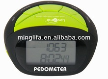 sporting goods lcd pedometer with belt clip