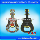 Made in China guitar metal fridge sticker custom cheap metallic sticker nameplate badge label emblem for promotions
