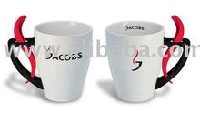 Jacobs white mug with spoon