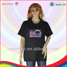 2013 alibaba express el t shirt child led t-shirt in guangzhou