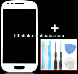 Replacement White Front Glass LCD Outer Lens Screen Cover for Samsung Mini Galaxy S3 III i8190 8190 OEM