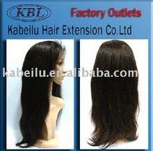 5a cheap 100% 100% brazilian human hair,light blue full lace hair wig