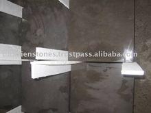Tunisia Foussana Honed Dark Grey Artificial Marble Tile