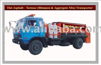 Hot Asphalt, Tarmac, Bitumen-Aggregate-Sand-Mixture Transporter Trucks