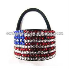 UK,USA flag hair band,flag fashion hair accessory,Diamond hairband