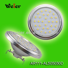 Led Lights AR111 5W 5050 10-30V DC Ceiling light 30 SMD Aluminum no cover 110*54mm CE&RoHS With 2Years Warranty(AR111-AL505030D)