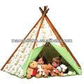 100% algodão lona da tenda para crianças/crianças engraçado jogar barraca casa