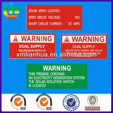 australia warning label kits for solar system