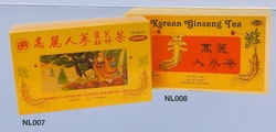 Korean Ginseng Lingzhi Tuchung Tea & Korean Ginseng Tea