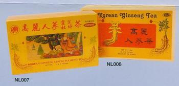 Korean Ginseng Lingzhi Tuchung Tea & Korean Ginseng Tea