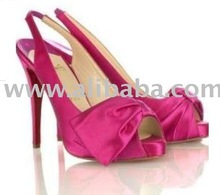 2012 summer women's red satin slingbacks,party shoes,evening shoes, fashion lady dress shoes,high heels sandals